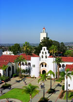 SDSU Campus Hepner Hall and Bell Tower