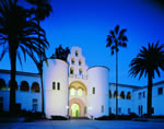 SDSU Campus Hepner Hall at night