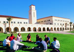 SDSU Students in a Circle on Grass